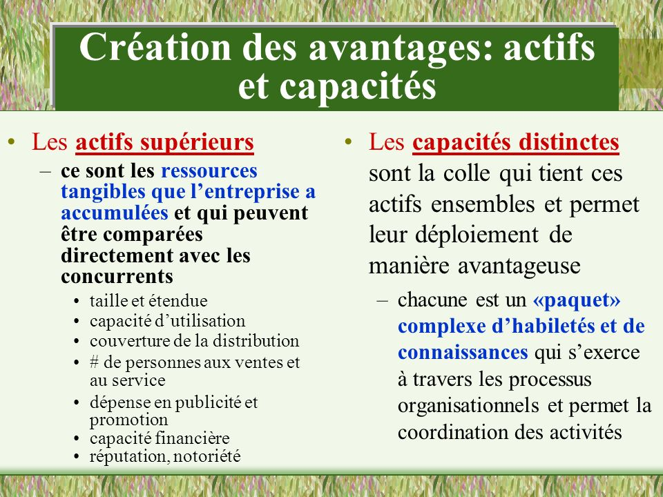 Les changements environnementaux induits par la technologie et les désavantages concurrentiels «soutenables...»