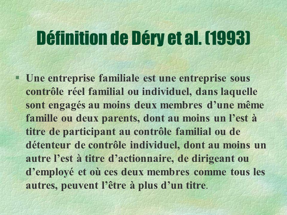 Définition de Déry et al.