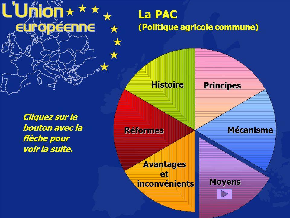 La PAC est financée par le FEOGA (Fonds européens dorientation et de garantie agricoles).