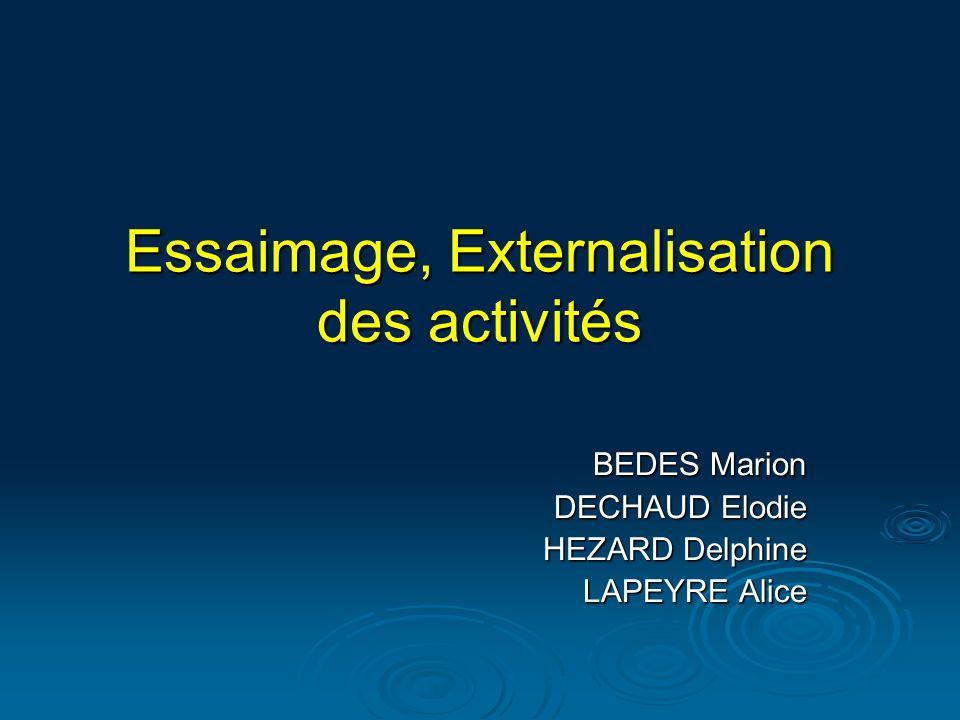 Essaimage, Externalisation des activités BEDES Marion DECHAUD Elodie HEZARD Delphine LAPEYRE Alice
