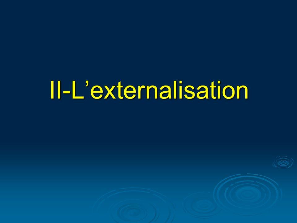 Définition Définition Stratégie dont lobjectif est de déléguer sur une ou plusieurs années la gestion dune ou plusieurs fonctions de lentreprise à un prestataire extérieur.