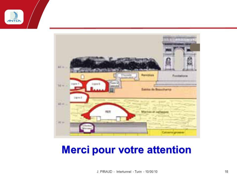 Merci pour votre attention Merci pour votre attention J. PIRAUD - Intertunnel - Turin - 10/06/10 18