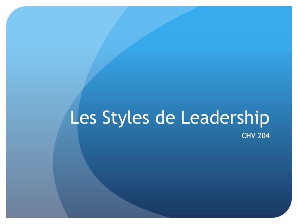 Les Styles de Leadership CHV 204