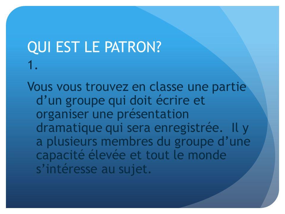 QUI EST LE PATRON.1.
