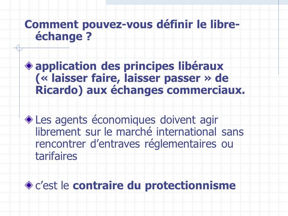 II – LE PROTECTIONNISME Face à la crise des années 30 puis 70 et à la concurrence de plus en plus importante, certains pays sont tentés de faire du protectionnisme.