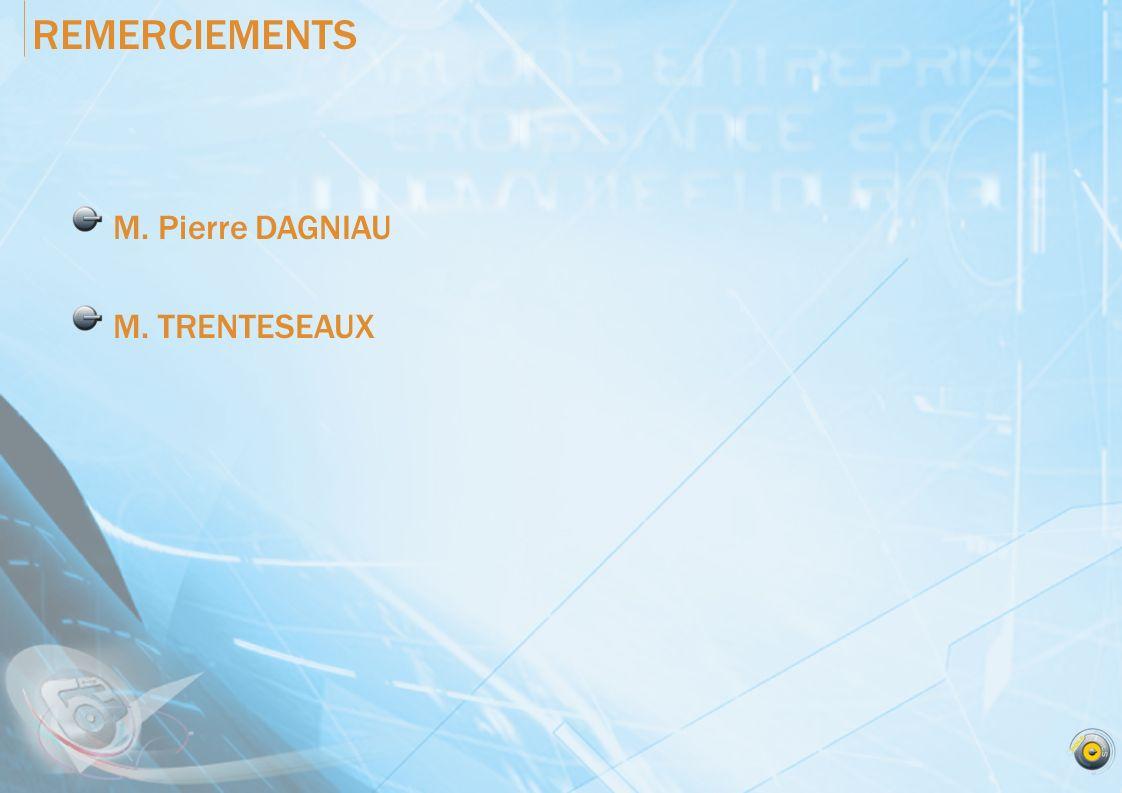 REMERCIEMENTS M. Pierre DAGNIAU M. TRENTESEAUX