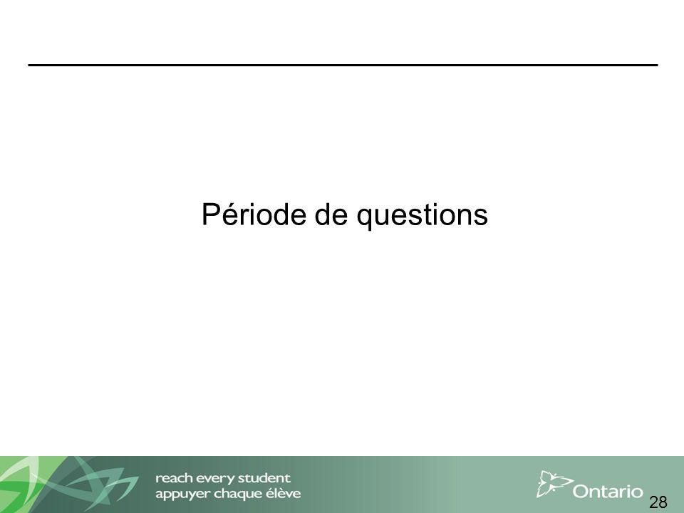 Période de questions 28
