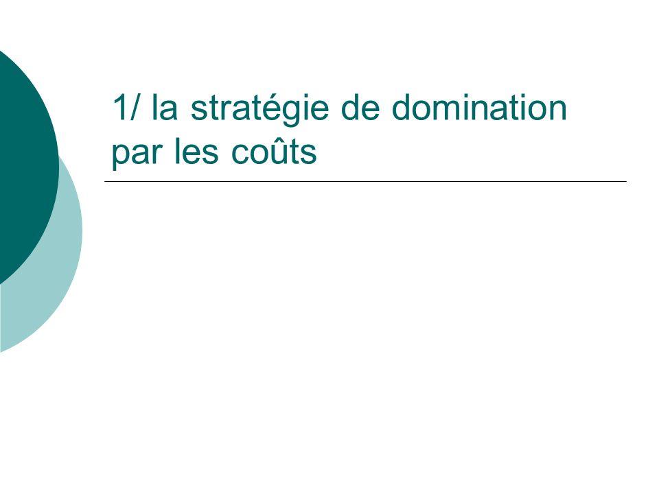 1/ la stratégie de domination par les coûts