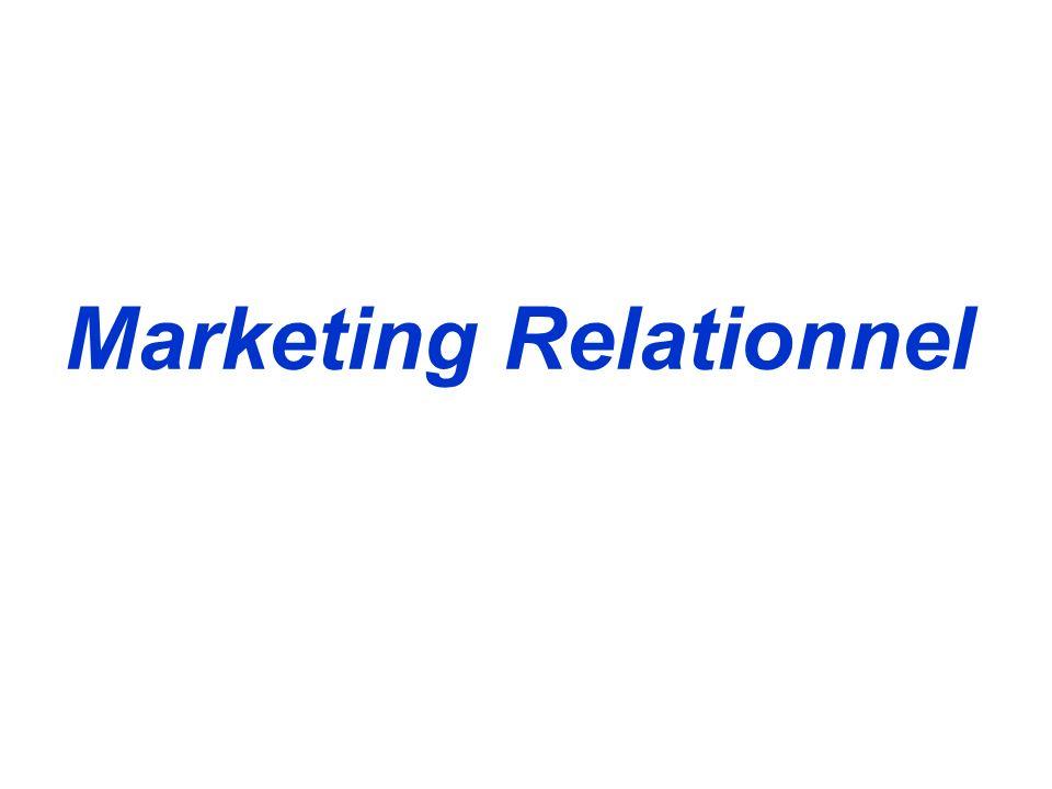 C.R.M & marketing relationnel Le C.R.M est: Une démarche organisationnelle qui vise à mieux connaître et mieux satisfaire les clients identifiés par leur potentiel d activité et de rentabilité, à travers une pluralité de canaux de contact, dans le cadre d une relation durable, afin d accroître le chiffre d affaires et la rentabilité de l entreprise.