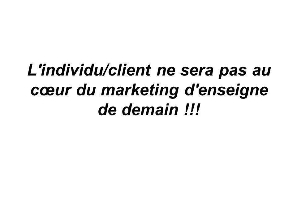 L'individu/client ne sera pas au cœur du marketing d'enseigne de demain !!!