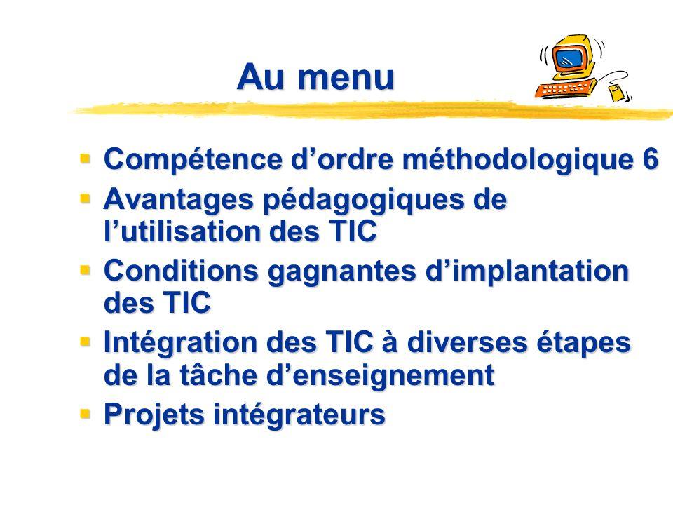 Intégrer les TIC: où, quand, comment? Danielle De Champlain Gaétane Grossinger Divay