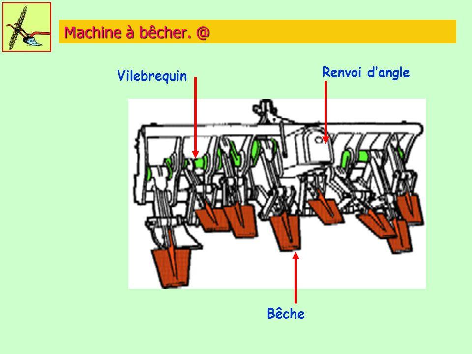Machine à bêcher. @ Bêche Vilebrequin Renvoi dangle