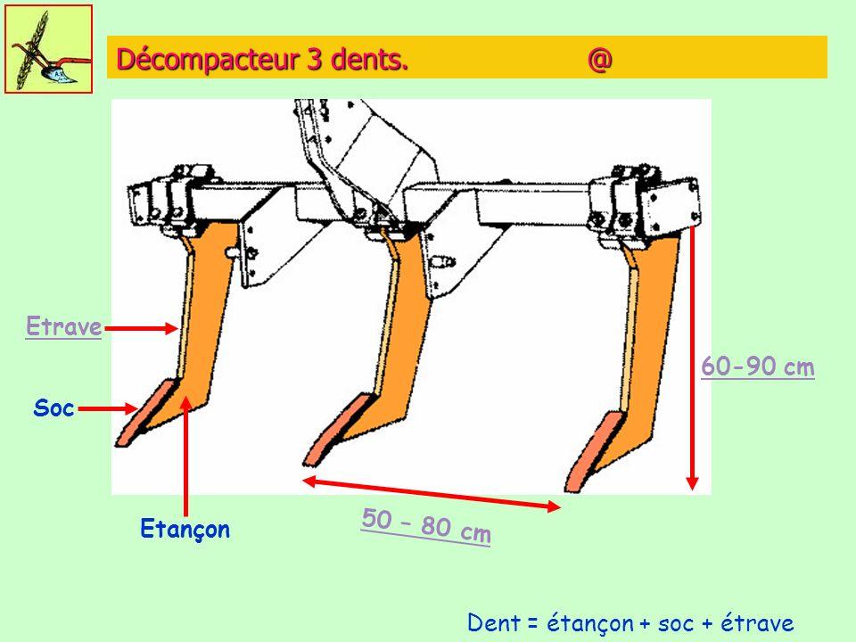 Décompacteur 3 dents. @ Soc Etançon Etrave 50 – 80 cm 60-90 cm Dent = étançon + soc + étrave