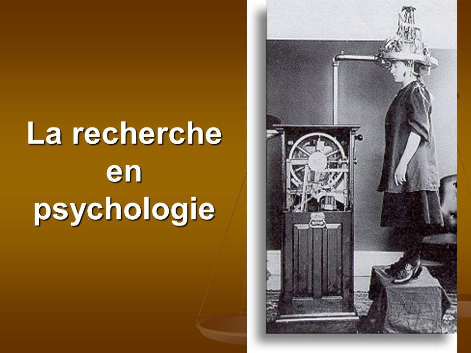 La recherche en psychologie