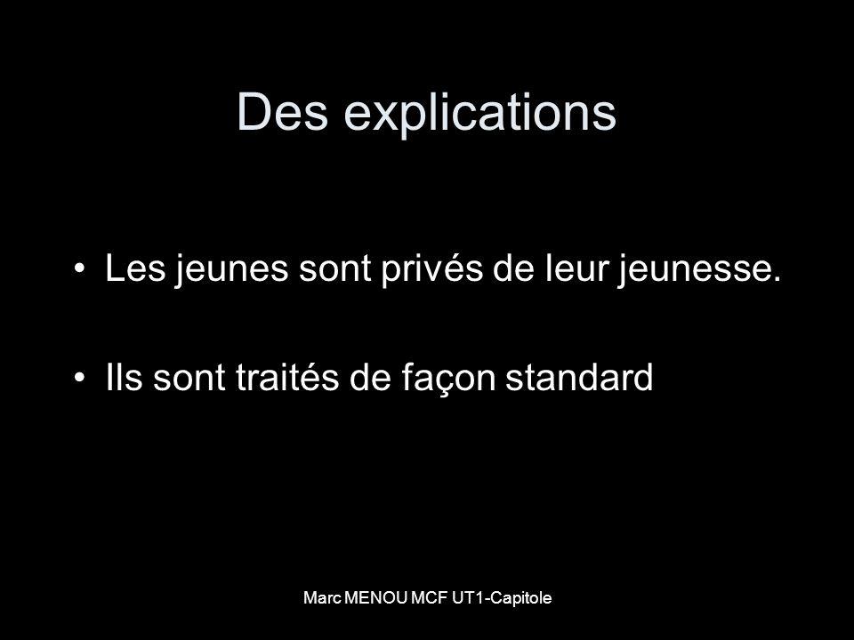Marc MENOU MCF UT1-Capitole Une solution Les serious games Les QCM