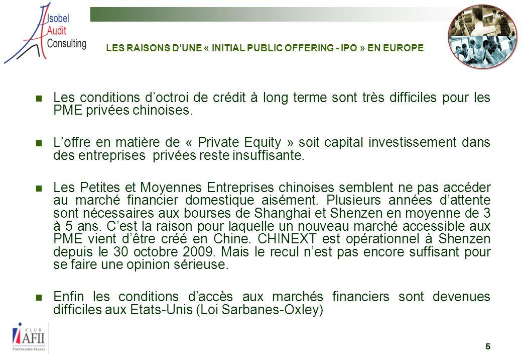 6 2. AVANTAGES POUR LES ENTREPRISES CHINOISES DETRE COTEES SUR EURONEXT PARIS