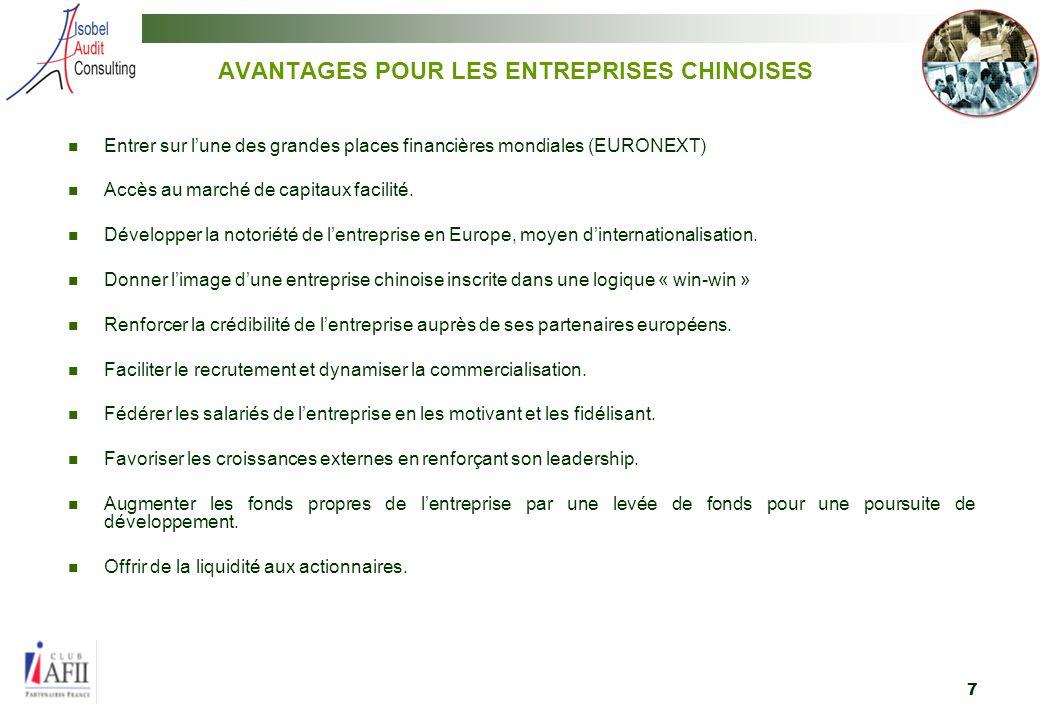 8 3. AVANTAGES POUR LES INVESTISSEURS FRANCAIS