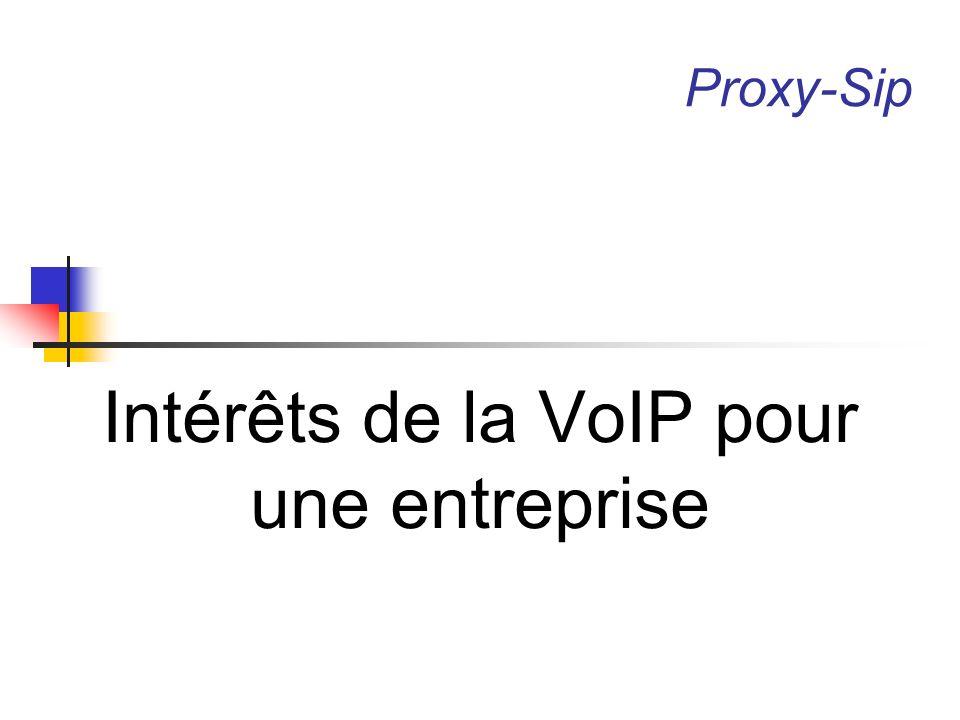Intérêts pour une entreprise Evolution de la ToIP la téléphonie sur IP représentait en 2005 8% du parc total des lignes dans le monde.