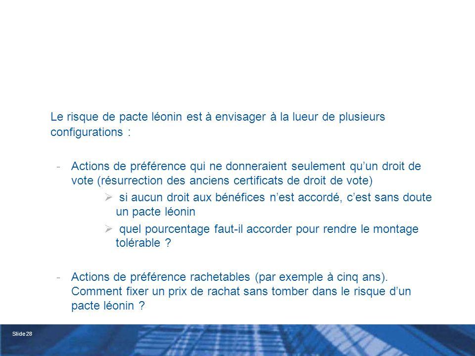 Slide 29 -La prohibition des clauses dintérêt fixe (art.