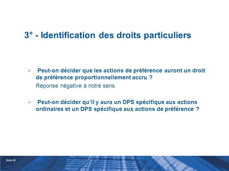 Slide 40 B - Les actions conférant des droits dans une autre entité du groupe 1° - Le texte (Art.
