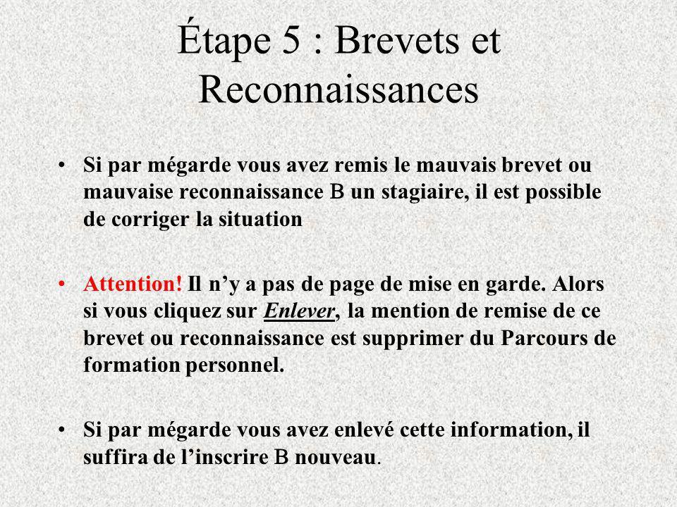 Étape 5: Brevets et Reconnaisances