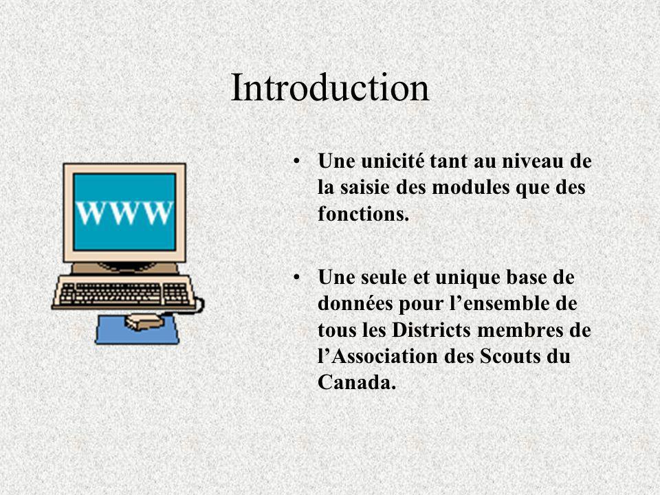 Introduction Rien à installer dans votre PC. Aucun logiciel à se procurer. Tout est géré par une base de données maintenue directement sur les serveur