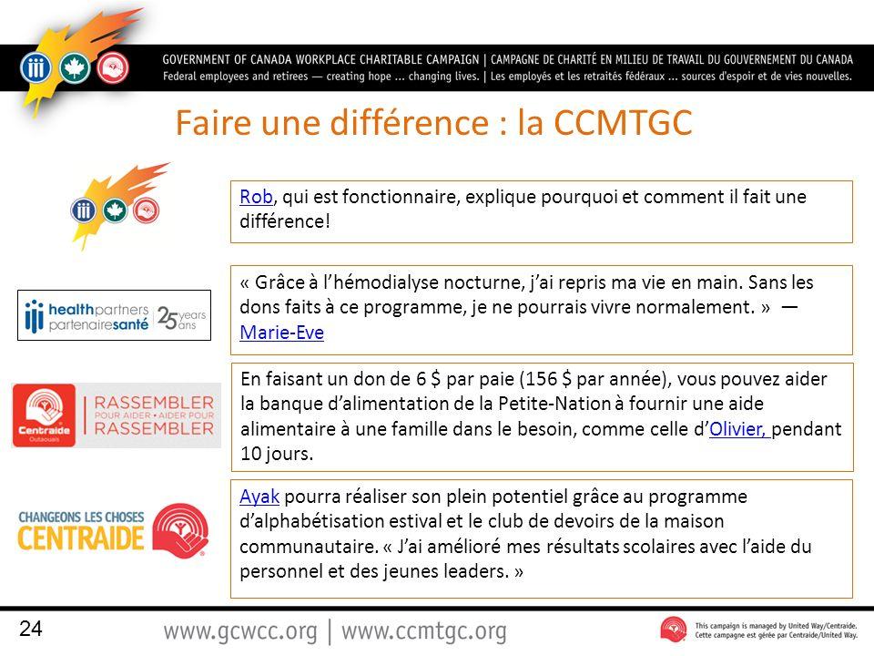Faire une différence : la CCMTGC RobRob, qui est fonctionnaire, explique pourquoi et comment il fait une différence.