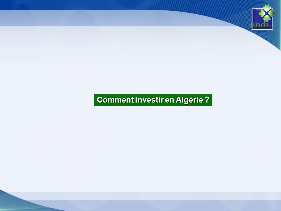 Comment Investir en Algérie ?