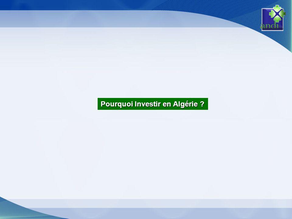 Pourquoi Investir en Algérie ?