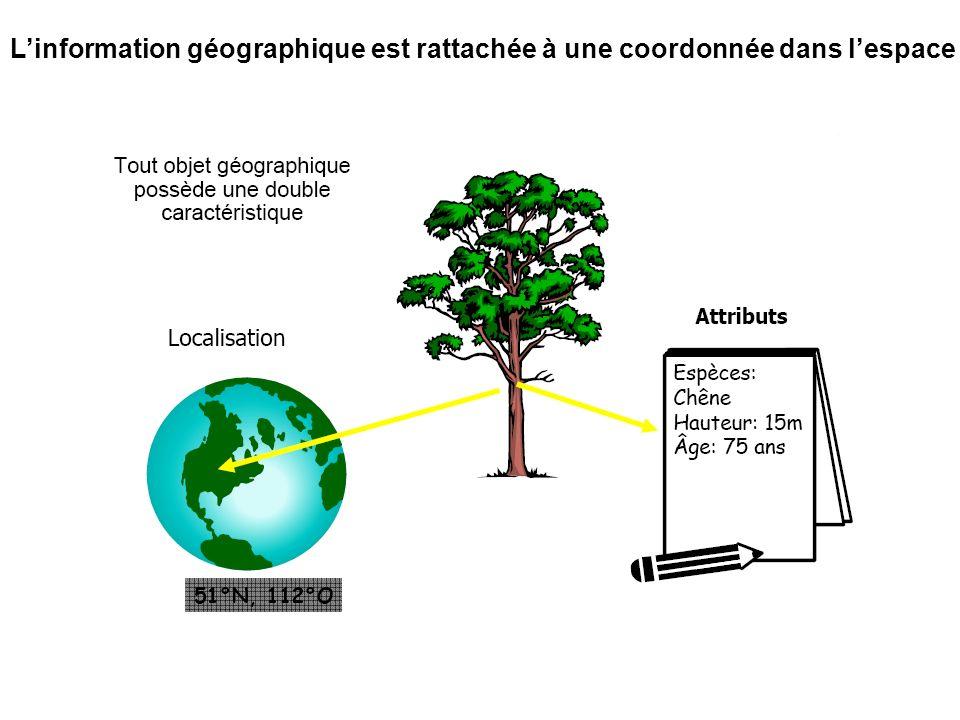 Dans linformation géographique, chaque objet graphique est décrit