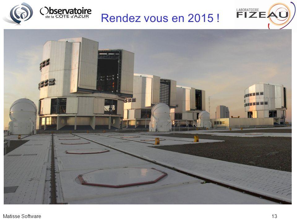 Matisse Software 13 Rendez vous en 2015 !