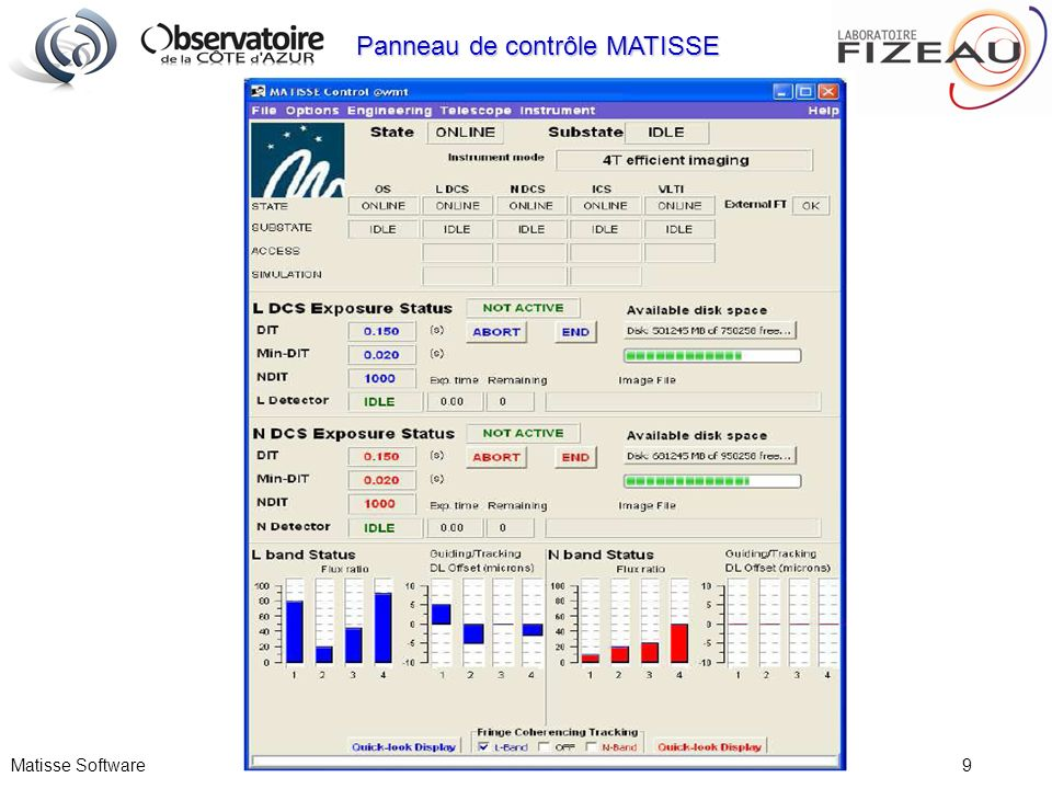 Matisse Software 9 Panneau de contrôle MATISSE