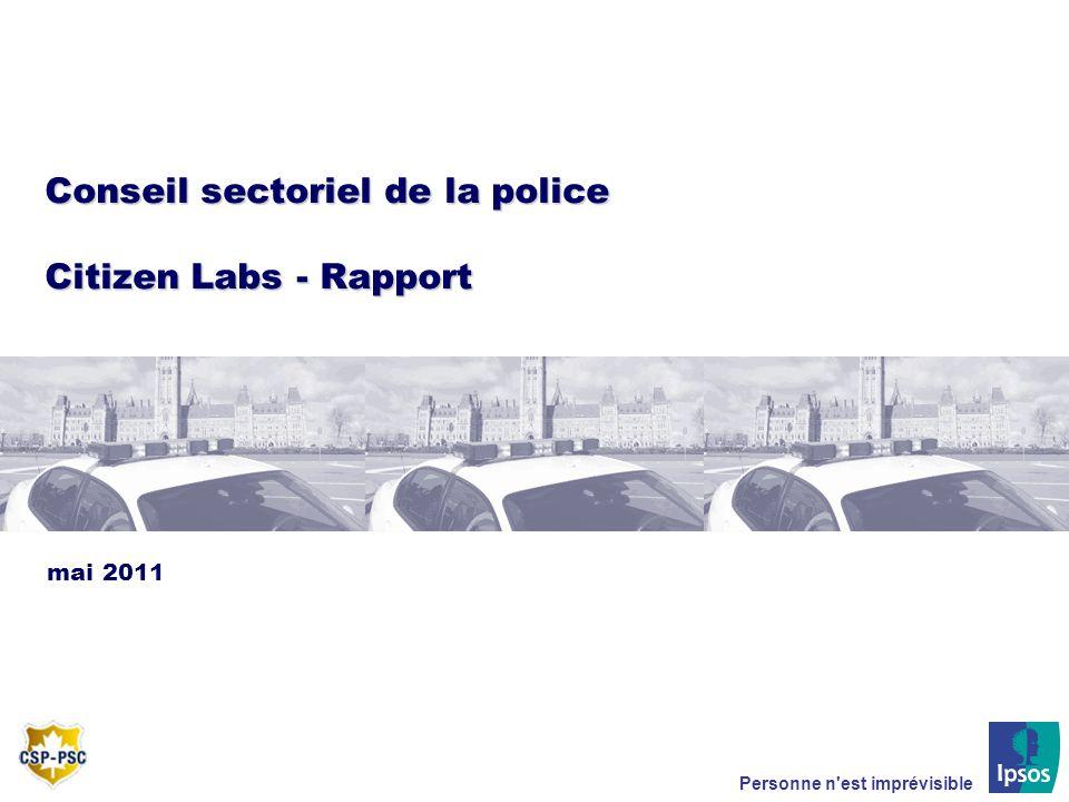 Personne n'est imprévisible Conseil sectoriel de la police Citizen Labs - Rapport mai 2011