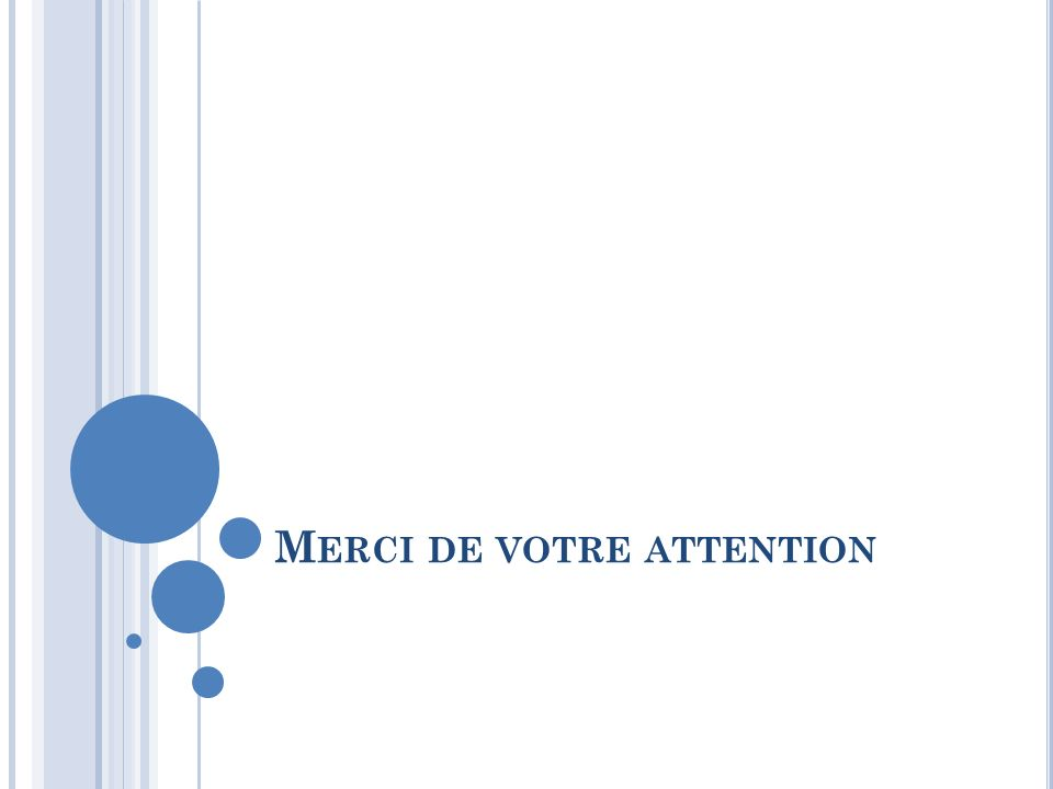 M ERCI DE VOTRE ATTENTION