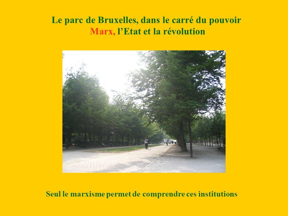 Le parc de Bruxelles, dans le carré du pouvoir Marx, lEtat et la révolution Seul le marxisme permet de comprendre ces institutions