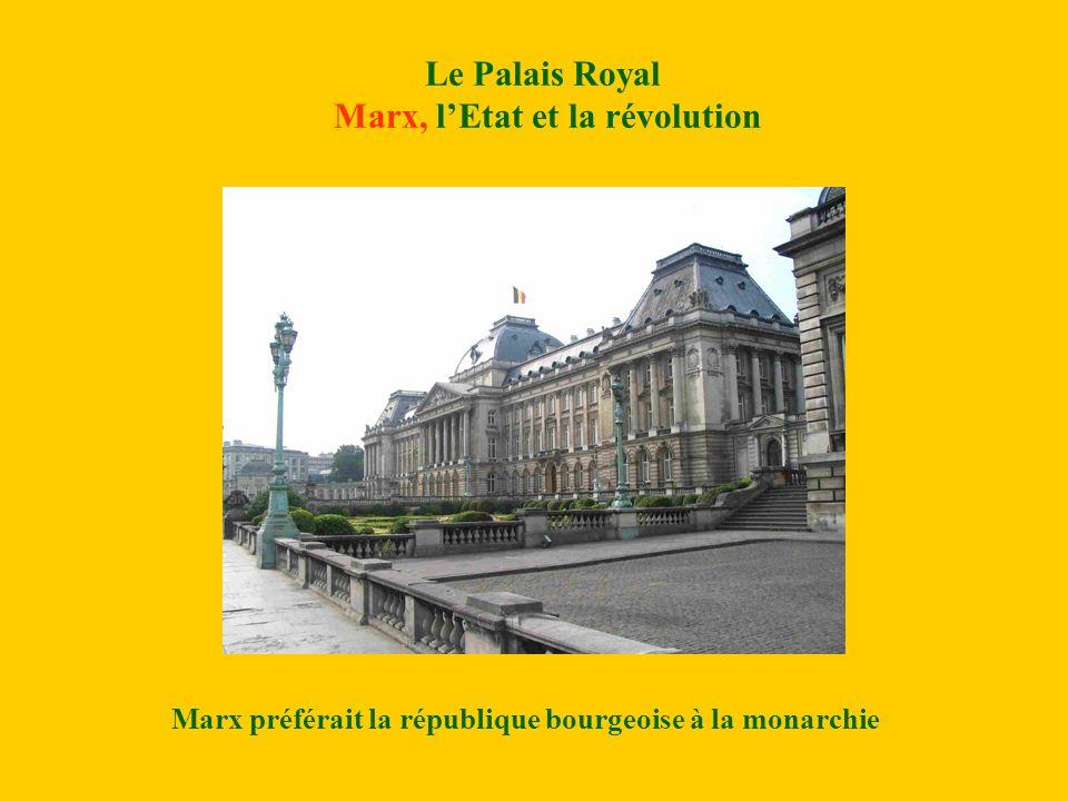 Le Palais Royal Marx, lEtat et la révolution Marx préférait la république bourgeoise à la monarchie