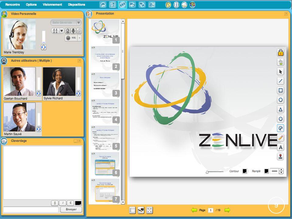 Les plateformes: Zenlive Avantages: Essai gratuit et pleinement fonctionnel pour 14 jours.