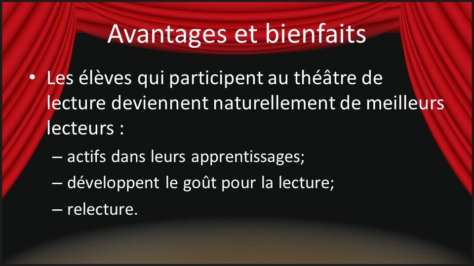 Références Sites http://www.cheneliere.ca/main+fr+01_310+Collection_Theatre_des_lecteurs.html?DivisionID=5&CollectionID=200 http://www.sasked.gov.sk.ca/docs/francais/fransk/fran/elem/actl/actl13.html http://pedagogique-heaj.be/seqped/didac/elef_th1.html http://www.cheneliere-education.ca/premiertheatre/ http://thelect.ednet.ns.ca/ http://www.alliage.ca/Chronique/Chronique005.html http://www.alliage.ca/Chronique/Chronique003.html http://www.alliage.ca/Chronique/Chronique002.html http://translate.google.ca/translate?hl=fr&langpair=en|fr&u=http://www.literacyconnections.com/ReadersTheater.php PDF http://www.eworkshop.on.ca/edu/pdf/Mod55_theatre_lecteurs.pdf http://www.csdccs.edu.on.ca/programmes_et_services/see/documentation/cir4/9-circulaire4-annexe3-fiche7.pdf http://www.unbf.ca/L2/Resources/PDFs/Theatre%20de%20lecture-annexes.pdf http://www.editionsrdl.com/medias/theatre_du_jamais.pdf http://www.cheneliere.ca/DATA/ITEM/6388.pdf