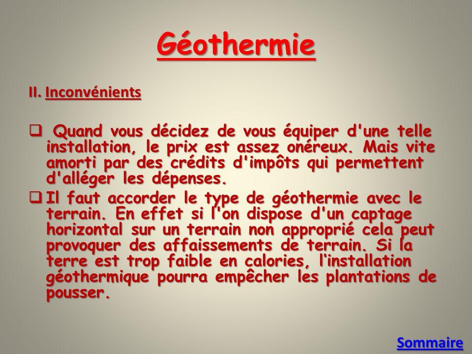 Géothermie II.