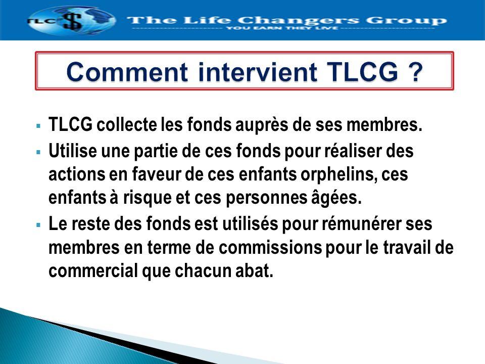 TLCG collecte les fonds auprès de ses membres. Utilise une partie de ces fonds pour réaliser des actions en faveur de ces enfants orphelins, ces enfan
