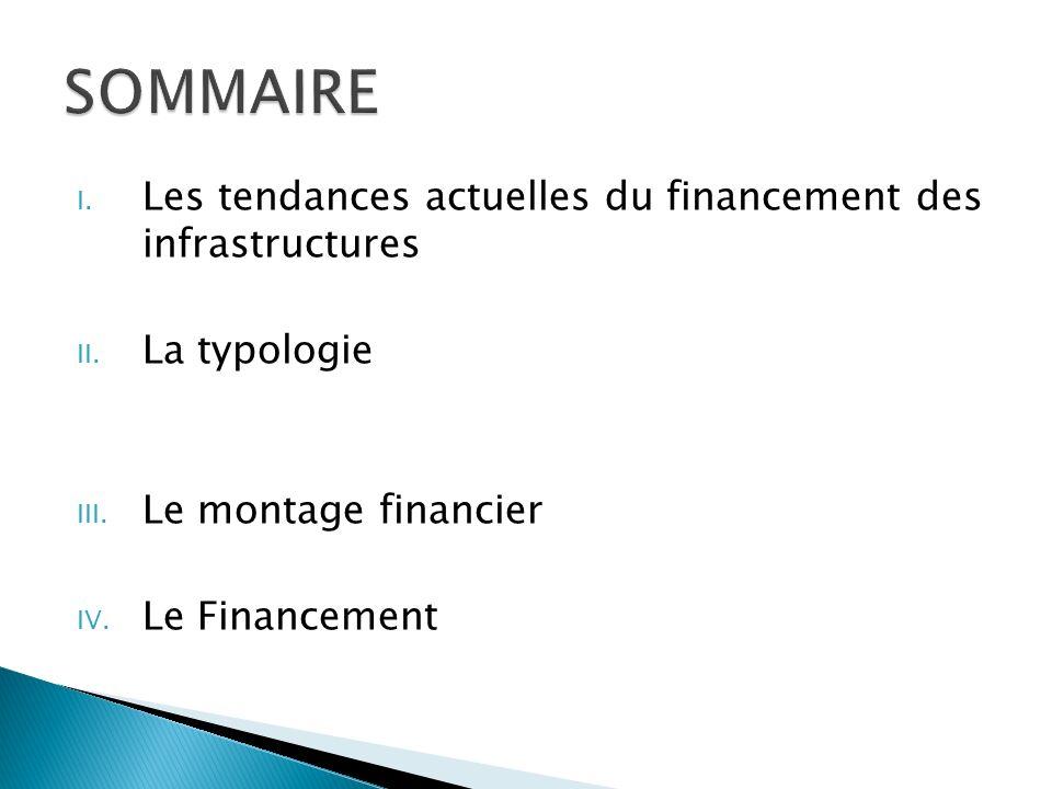 I.Les tendances actuelles du financement des infrastructures II.