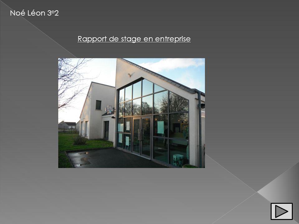 Noé Léon 3 e 2 Rapport de stage en entreprise