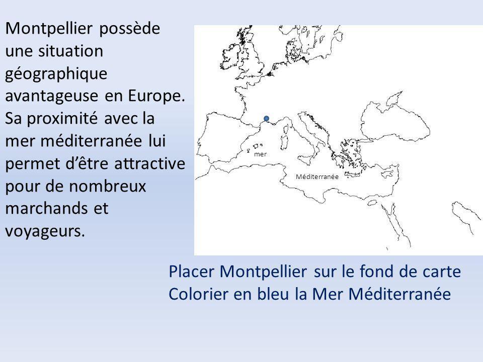 Montpellier possède une situation géographique avantageuse en Europe. Sa proximité avec la mer méditerranée lui permet dêtre attractive pour de nombre