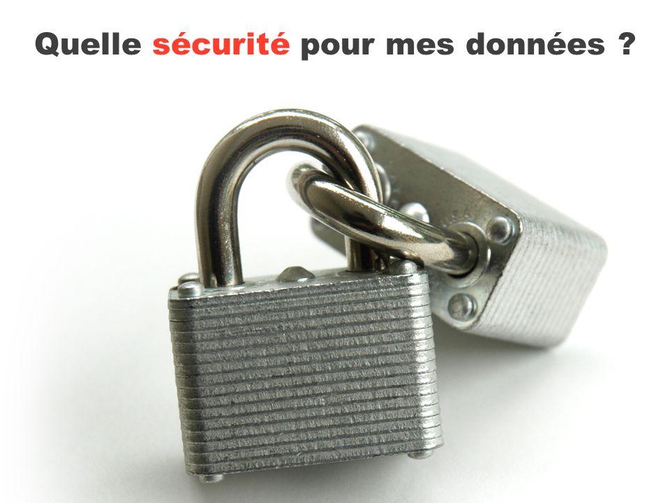 Quelle sécurité pour mes données