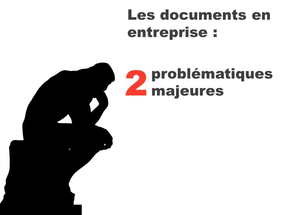 problématiques majeures 2 Les documents en entreprise :