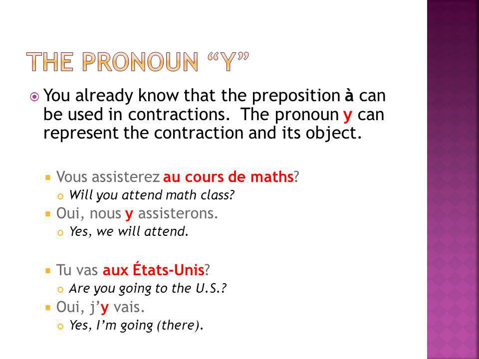 You already know that the preposition à can be used in contractions.