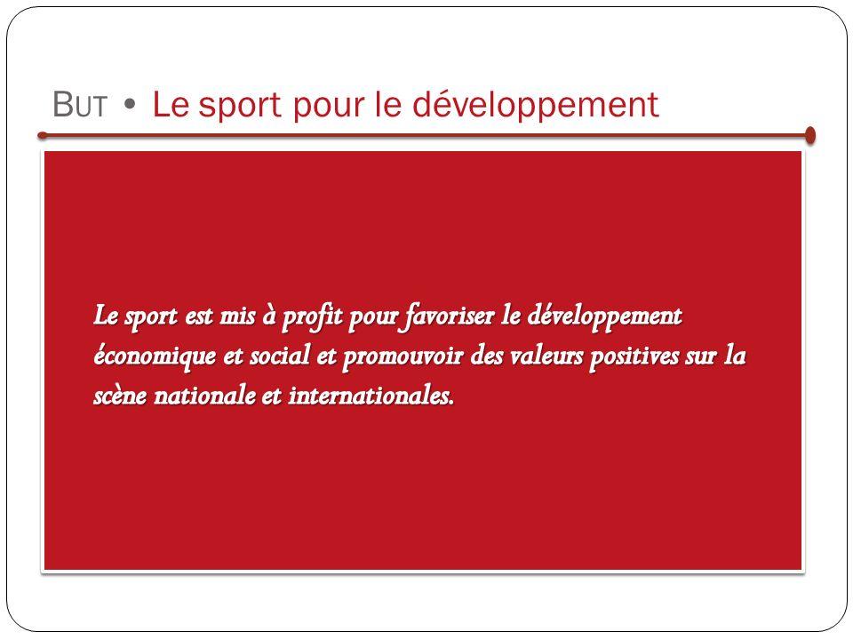 B UT Le sport pour le développement