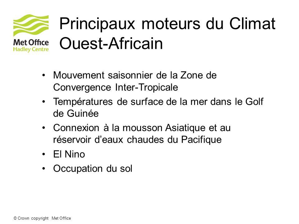 © Crown copyright Met Office La mousson Ouest-Africaine