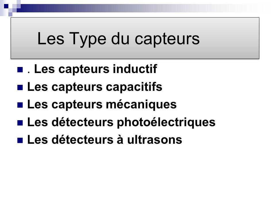 Les Type du capteurs.