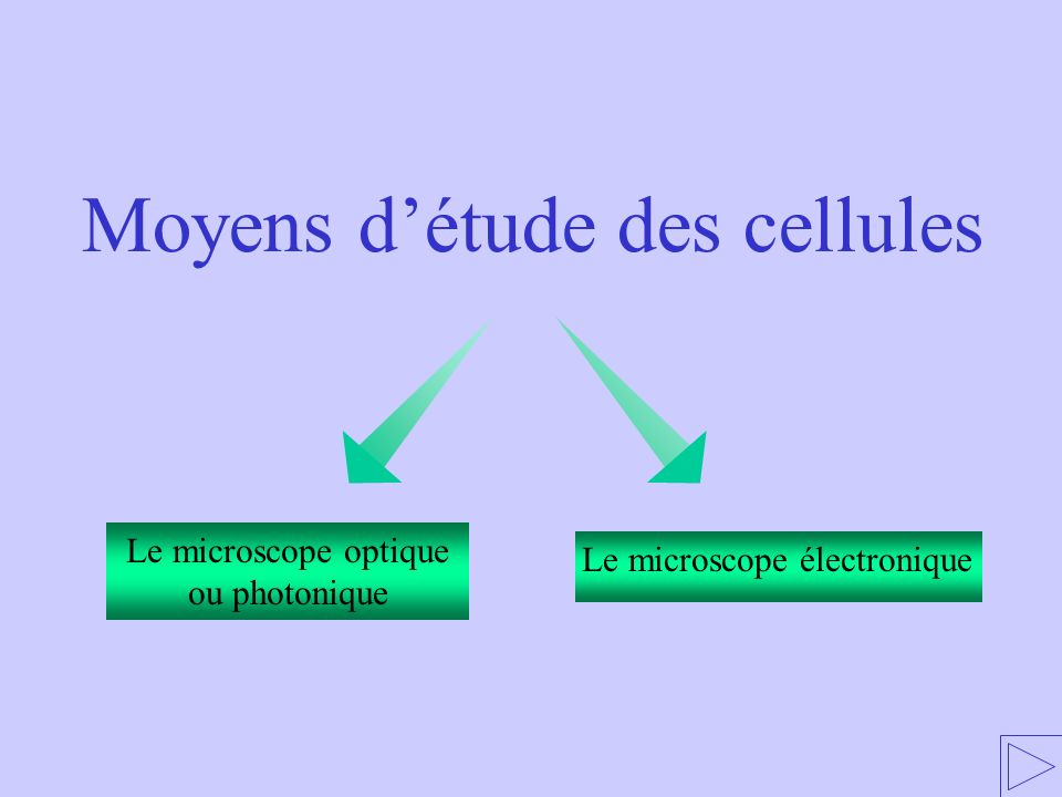 1 - MOYENS DETUDE DES CELLULES 1.1 – Microscopie optique ou photonique 1.2 – Microscopie électronique 2 – STRUCTURE ET ULTRASTRUCTURE DES CELLULES 3 – REPARTITION DU VIVANT 1.1 – Microscopie optique ou photonique